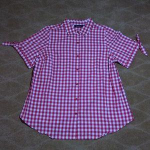 Roaman's NWOT Gingham Shirt, 16W